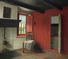 Giclée Henk Helmantel - Hoeske van Thais Joaptje in Rottum (Gron. Deco Champetre, Box Bed, Old Farm Houses, Dutch Painters, Dutch Artists, Colour Schemes, Color Combinations, Rustic Interiors, Historic Homes