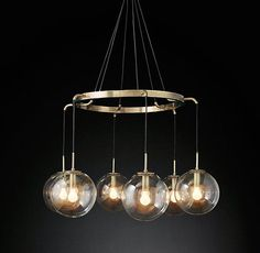 Languedoc Suspended Glass Globes Chandelier