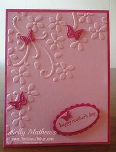 Indiana Inker: Handmade Cards Happy mother's day