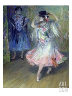 Two Spanish Dancers Giclee Print by Juan Roig y Soler at Art.com