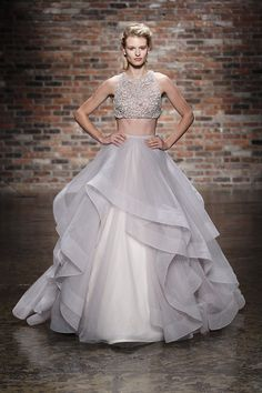 Crop Top Wedding Dress| The Knot | Pearl Events Austin Pinspiration | www.pearleventsaustin.com