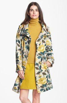 Weekend Max Mara 'Gatto' Floral Print Coat available at #Nordstrom