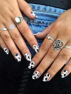 White Cow, Black And White, Cow Nails, Photo And Video, Abstract, Photography, Jewelry, Nail Manicure, Summary