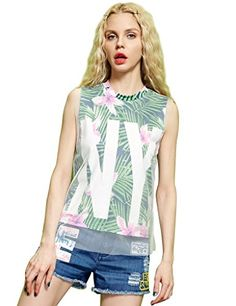 Girls Floral Print Sleeveless Summer Blouse