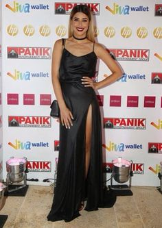 Demy in Stelios Koudounaris. Find the look at www.xamamclothes.com // #demy #popstar #stelioskoudounaris #blackdress #panik #island #xamamphilosophytowear Choices, Greek, Island, Formal Dresses, Celebrities, How To Wear, Shopping, Fashion, Dresses For Formal