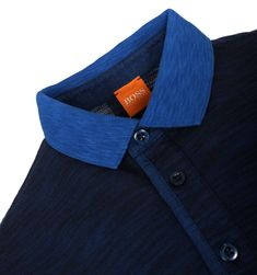 BOSS Orange Polo Shirts. BOSS Orange Phelon Navy Pique Polo Shirt