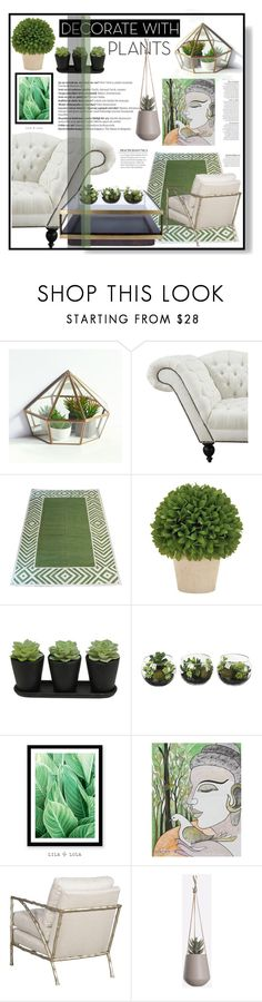 """""""plants"""" by k-ade ❤ liked on Polyvore featuring interior, interiors, interior design, home, home decor, interior decorating, Madeline Weinrib, Balmain, NOVICA and Anja"""