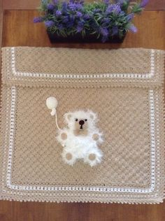 Teddy bear c2c Buggy Blanket