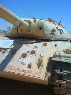 Egyptian IS-3 captured by Israelis. Scuff marks are from 105mm AP rounds