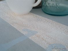 Crackle Finish Table Top  ~ * THE COUNTRY CHIC COTTAGE (DIY, Home Decor, Crafts, Farmhouse)