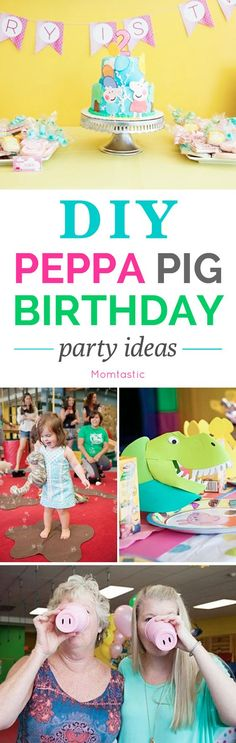 DIY Peppa Pig birthday party ideas I threw my daughter a DIY Peppa Pig birthday party and it was a huge hit with adults and kids alike! Despite Peppa Pig's popularity with the toddler set, there are very limited Peppa Pig themed party goods in the States. Pig Birthday, Third Birthday, 4th Birthday Parties, Birthday Ideas, Cumple Peppa Pig, Baby Party, Kindergarten, Baby Shower, Peppa Pig Party Ideas