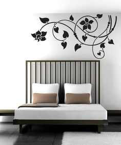 Decal sizes are available. Email us and we will give you a fair price.Some wall decals may come in multiple pieces due to the size of the design.Vinyl wall decals are removable but not re-positionable. Simply peel and st. Tree Design On Wall, Wall Design, Daybed Room, Wall Stickers Home Decor, Tree Designs, Wall Decal Sticker, Room Paint, Textured Walls, Decoration