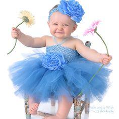 Unique Tutu Dresses   Custom Tutu Dress, Blue Baby Tutu Dress, Baby Tutus, Baby Tu Tu, Tutu ...