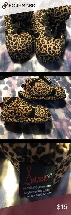 cf0b43c7eb782c Snooki leopard print slipper by Happy Feet NWOT Snooki slippers by Happy  Feet.