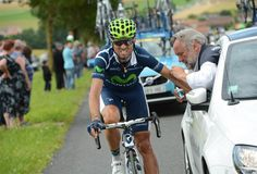 "Mobile Medicine: ""Spain's Alejandro Valverde rides alongside a car during the sixth stage Friday"" Tour de France 2012 #tdf"