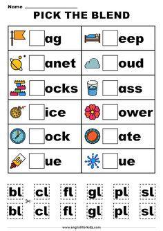Beginning Consonant Blends and Digraphs Worksheets