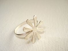 Daisy Sterling  Silver Ring Flower Ring Handmade by PenelopeStudio, $30.00