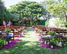Summer garden ceremony: http://www.stylemepretty.com/2013/06/07/malibu-wedding-from-aurelia-damore/ | Photography: Aurelia D'Amrore - http://aureliadamore.com/