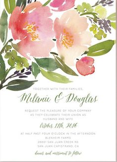 Favorite Floral Invites