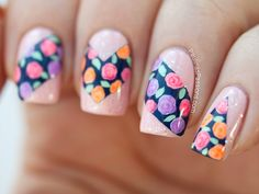 Paulina's PassionsGeometric Shaped Floral Nails