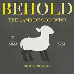 John 1:29 - Behold the Lamb of God who takes away the sin of the world.
