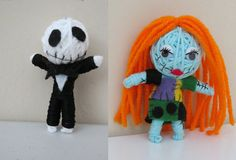 Jack and Sally Skellington Voodoo String Doll Couple