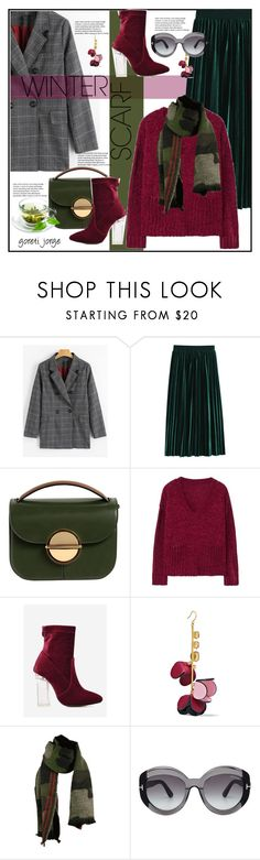 """""""Wrapper's Delight: Winter Scarf"""" by goreti ❤ liked on Polyvore featuring Marni, MANGO, Tom Ford, polyvoreeditorial, winterscarf and zaful"""