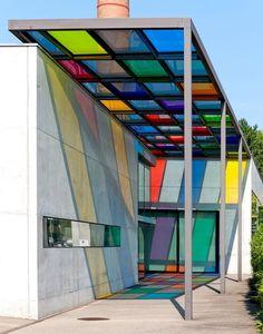 Interior Bauhaus, Architecture Bauhaus, Colour Architecture, Landscape Architecture, Interior Architecture, Bauhaus Design, Bauhaus Style, Kindergarten Design, Walter Gropius