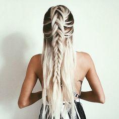 Image de hair, girl, and braid