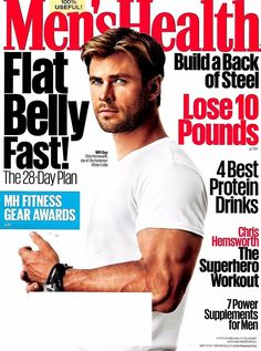 Men's Health Magazine May 2016 The Huntsman's Star Chris Hemsworth Cover - NEW
