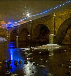 wetherby bridge at night