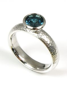 "Topaz ""London"" Bezel Ring - Wilsonville Diamond"