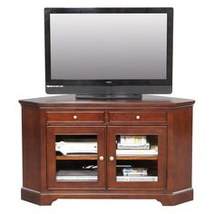 Winners Only Topaz 55 In. Corner Media Base - Cherry