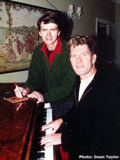 Tim and Neil Finn of Split Enz