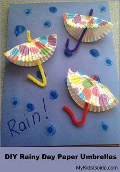 Birbirinden farklı güzel şemsiye sanat etkinleri paylaşıyoruz. Şemsiye kalıbı ve boyama sayfası
