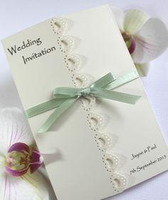 Beautiful hand made wedding invitations