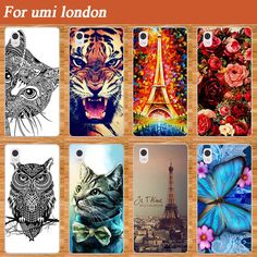 Popular Protective soft tpu Case For UMI London Special Blue Butterfly Design Sparkle Style For Umi London TPU case cover Holder