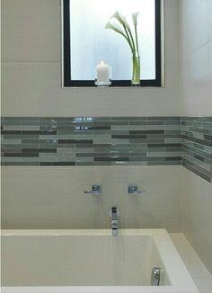 Bathroom tile design, love this