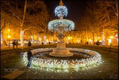 Advent in Zagreb by Vesna Holjevac Advent, Fountain, My Photos, Outdoor Decor, Water Fountains