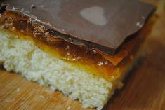 Jaffa cake tray bake recipe Easy, cheap and simple student recipe. Cake Recipes Uk, Tray Bake Recipes, Easy Baking Recipes, Sweet Recipes, Dessert Recipes, Fast Recipes, British Bake Off Recipes, Jaffa Cake, Cake Tray