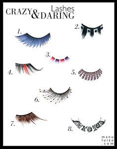 Crazy and daring eye lashes! | Cílios Postiços ousados para festas à fantasia e Carnaval!