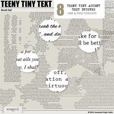 Brush Set: Teeny Tiny Text