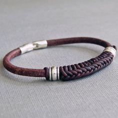 Spanish Braid Braided Leather Bracelet for by SivaniDesignsShop