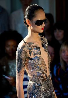 Bold Biker Chick Clothing - The Julien Macdonald Spring 2012 Collection is Gorgeously Gritty (GALLERY)
