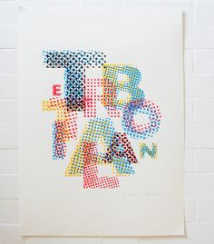 The Art of Lost Words - Evelin Kasikov – CMYK embroidery and Typographic Design – London