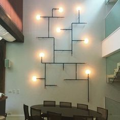 Ver esta foto do Instagram de @dtonettihome • 47 curtidas Lighting Concepts, Lighting Design, Small Room Interior, Room Lights, Wall Lights, Office Wall Design, Exposed Ceilings, Ceiling Plan, Small Cafe Design