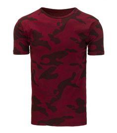 Pánske bordové tričko s potlačou