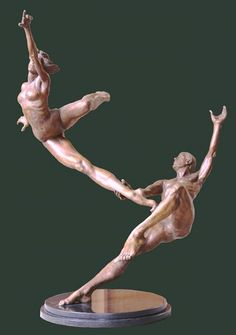 Benyei, Andrew (b,1949)- Dancers, I- 'Perfect Marriage (Sculpture)