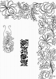 Haft Richelieu No. 19 From Wydawnictwo Joanna - Books & Magazines Hungarian Embroidery, Crewel Embroidery, Hand Embroidery Patterns, Applique Patterns, Ribbon Embroidery, Cross Stitch Embroidery, Embroidery Designs, Border Pattern, Pattern Art