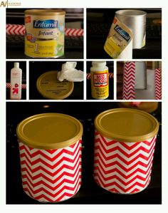 Recycle formula cans. :)